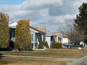 A row of houses in North Pocatello