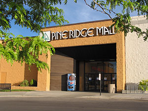 Exterior photograph of the Pine Ridge Mall in Pocatello, Idaho