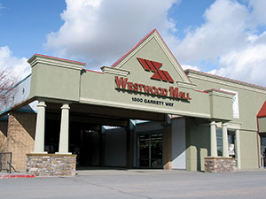 Exterior photograph of the Westwood Mall in Pocatello, Idaho