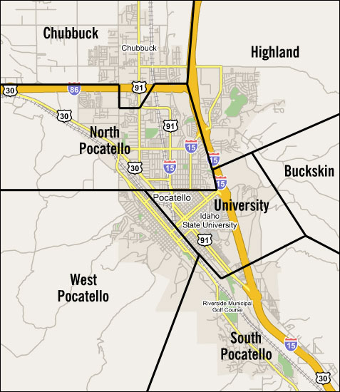 Pocatello Neighborhood Map