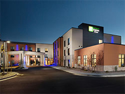 An exterior photograph of the Holiday Inn Express & Suites