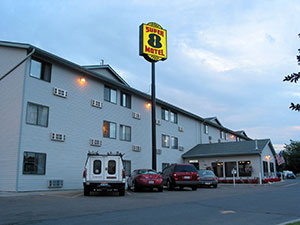 Photograph of the Super 8 Motel